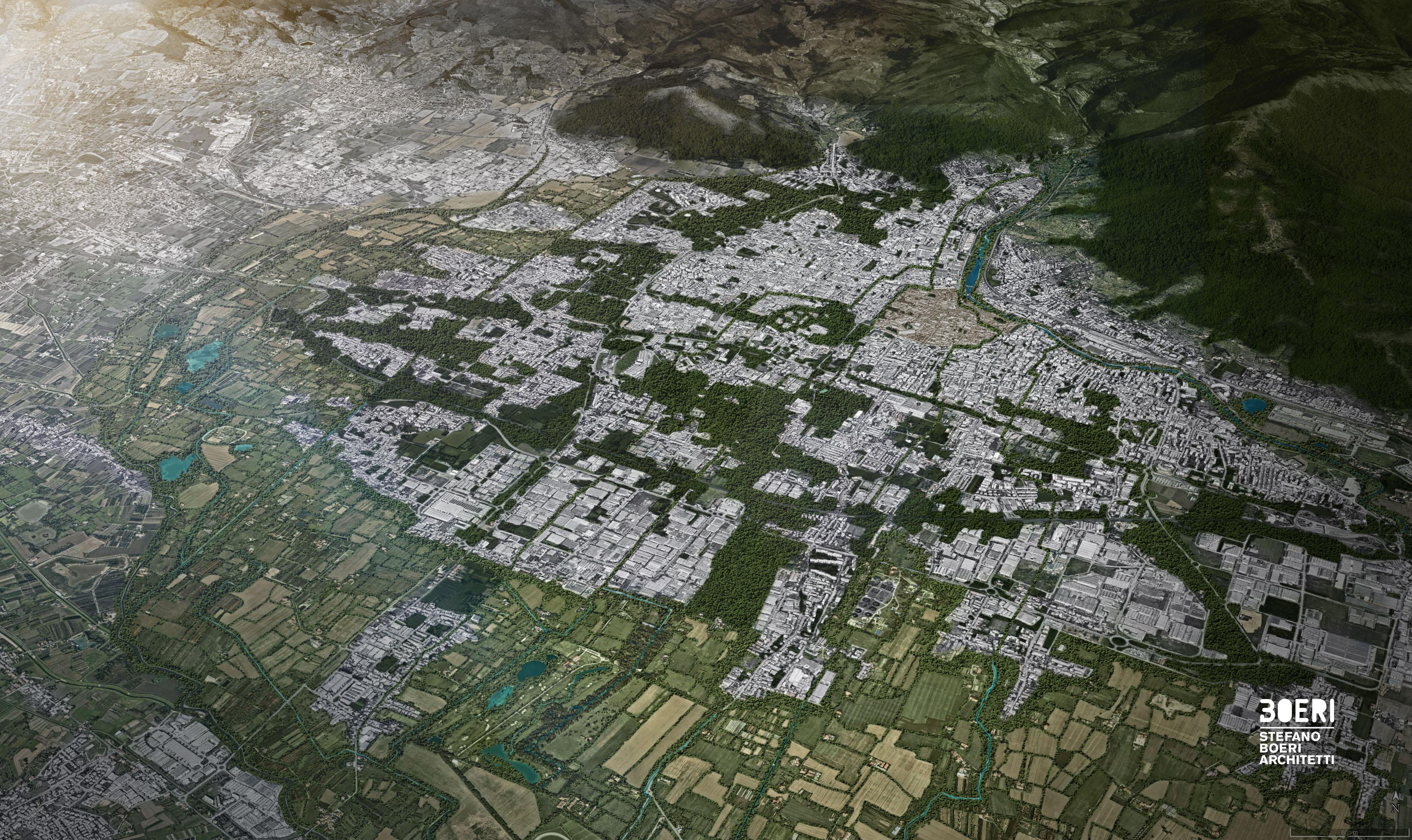 Prato vista dall'alto, le aree verdi nel 2030